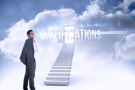 The staircase for reach your qualification